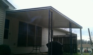 Patio Cover with black trim